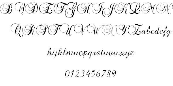 tattoo fonts script cursive
