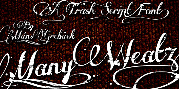 many weatz 25 Free Cursive Tattoo Fonts