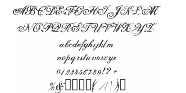 selfish 25 Free Cursive Tattoo Fonts