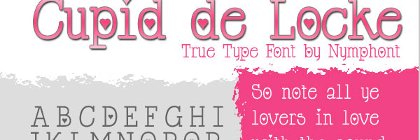 cupid font 25 Cute Fonts