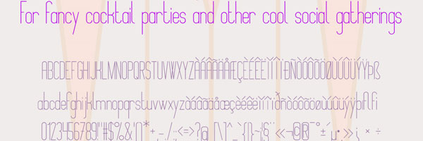 fancy free font 25 Cute Fonts