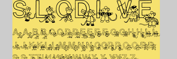mickey mouse font 25 Cute Fonts