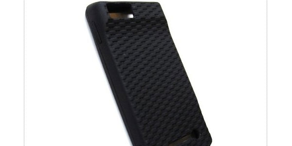 Skin Case Protector Soft Silicone Basket Weave Texture Grip Black