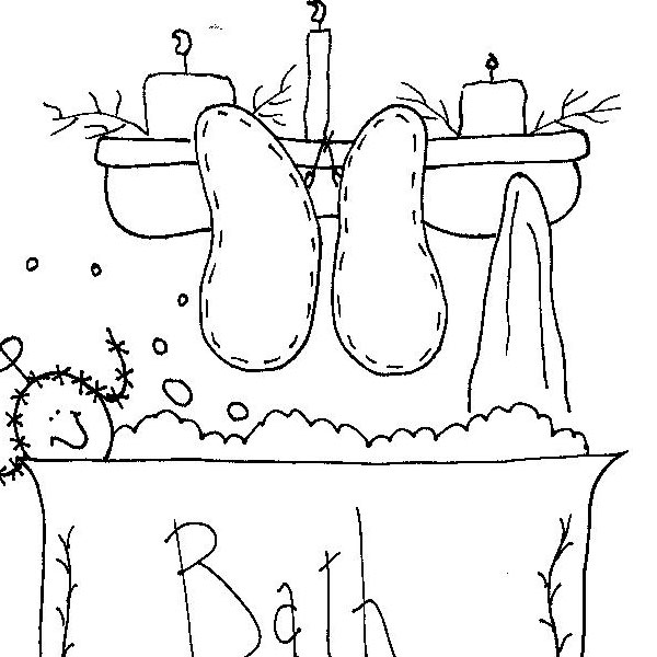 embroidery bath design 25 Free Embroidery Patterns