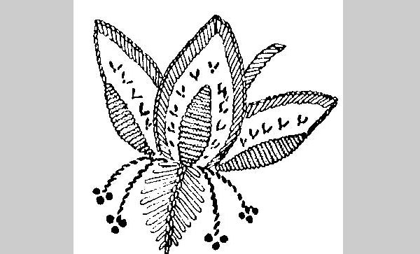 embroidery pattern jacobean fuschia 25 Free Embroidery Patterns