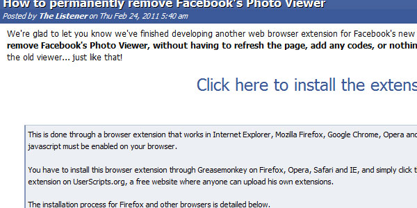Remove Facebook's Photo Viewer