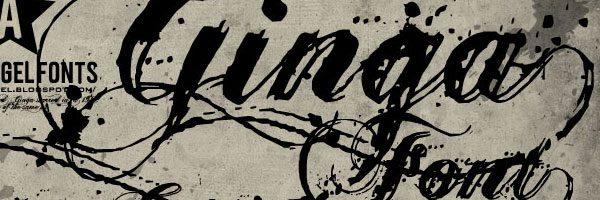 fancy script fonts ginga
