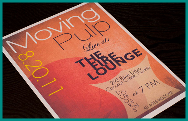 Moving Pulp Band Poster/Flyer Design