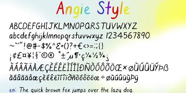 Angie Style Font