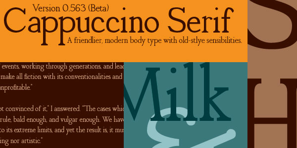 cappuccino serif font 25 Font Styles Showcase And Resources