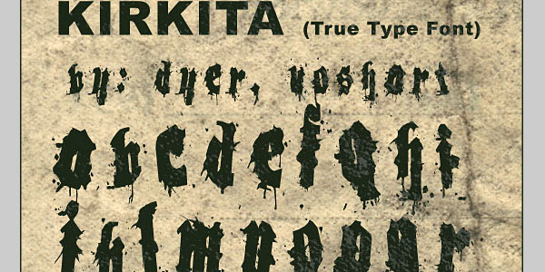 kirkita 25 Font Styles Showcase And Resources