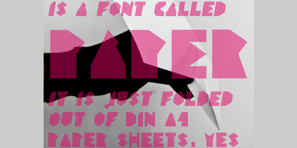 paper font 25 Font Styles Showcase And Resources