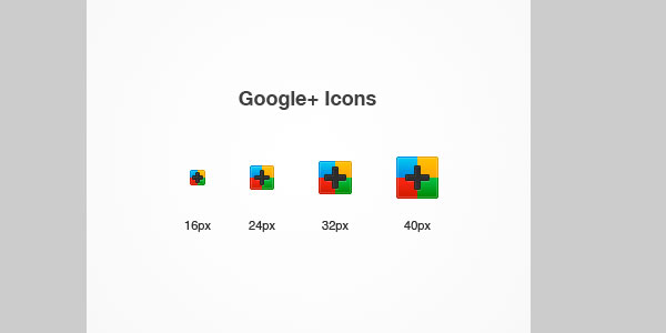 google icons 25 Excellent Google+ Icons