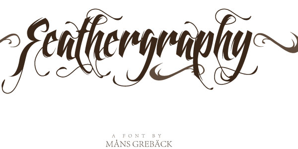 feathergraphy decoration 50 Awesome Graffiti Fonts