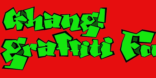 ghang 50 Awesome Graffiti Fonts