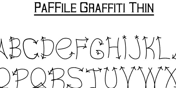graffiti thin font 50 Awesome Graffiti Fonts