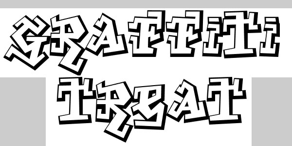 graffiti treat 50 Awesome Graffiti Fonts