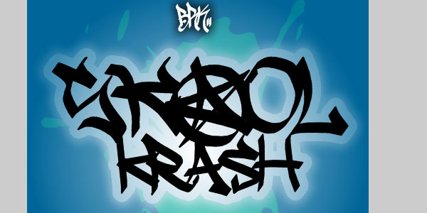 skool krash 50 Awesome Graffiti Fonts