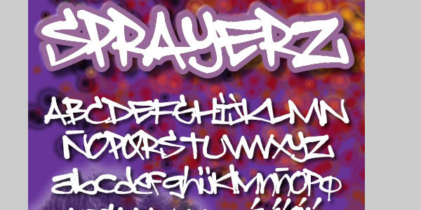 sprayerz font 50 Awesome Graffiti Fonts