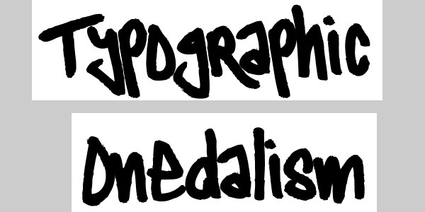 typographic onedalism 50 Awesome Graffiti Fonts