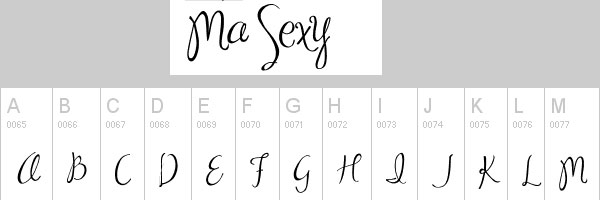 ma sexy 25 Cool Handwriting Fonts