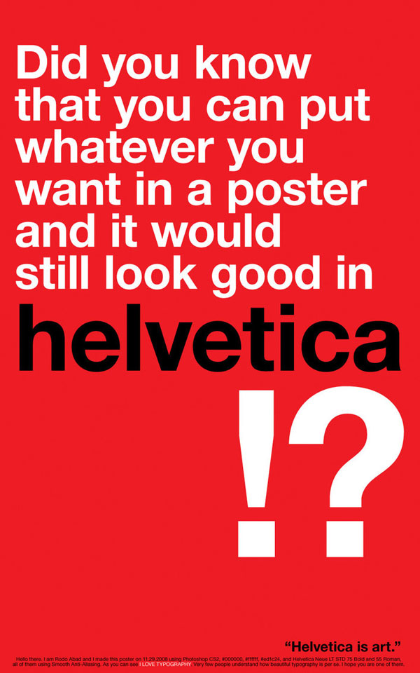 helvetica is art All About Helvetica Font