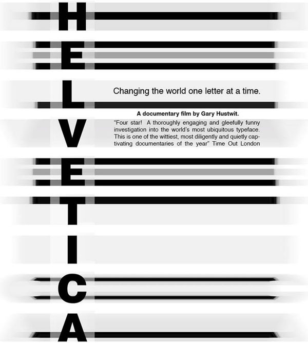 helvetica movie poster All About Helvetica Font