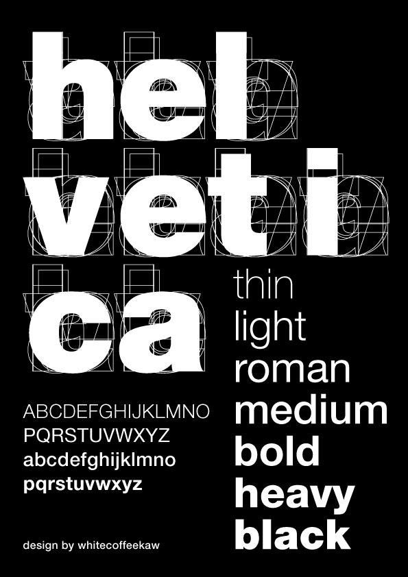 poster for heveltica All About Helvetica Font