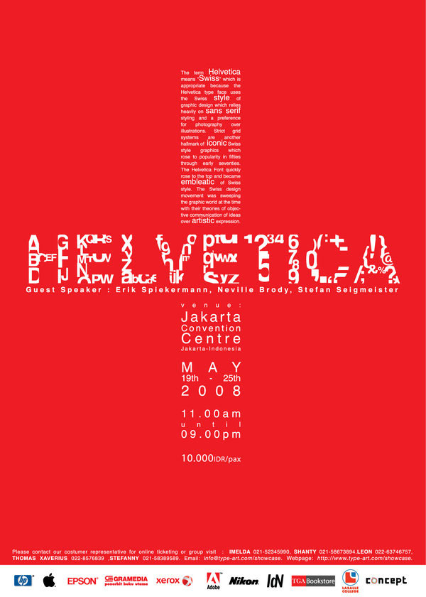 red heveltia poster All About Helvetica Font