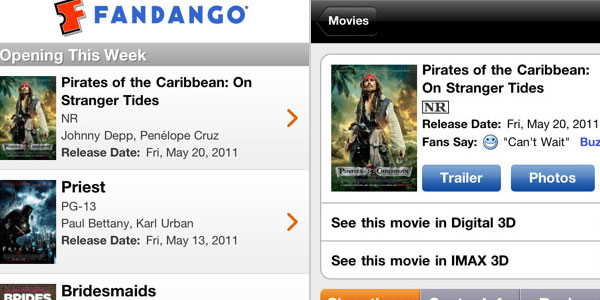 fandango movies 40 Best Free iPhone Apps