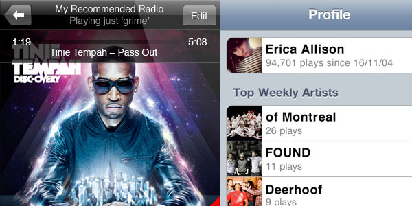 last fm 40 Best Free iPhone Apps