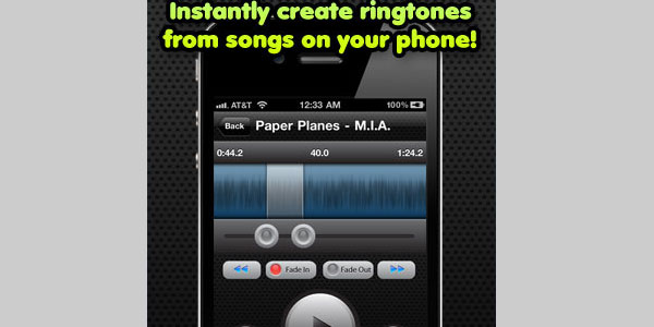 ringtone maker 40 Best Free iPhone Apps