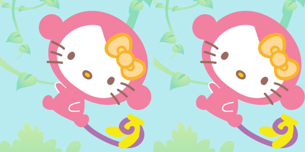 Hello Kitty Junkie Monkey iPhone Wallpaper