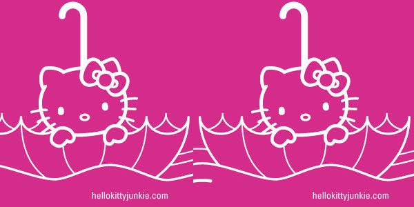 Hello Kitty Junkie Umbrella iPhone Wallpaper