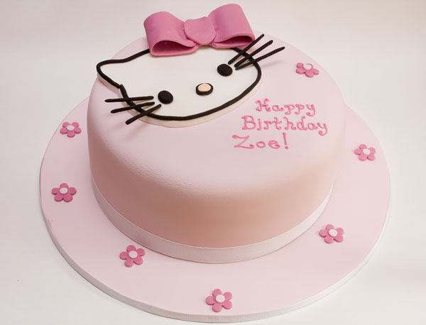 O Kitty With A Pink Fondant Bow