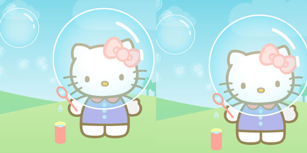 Hello Kitty Junkie Bubbles iPhone Wallpaper