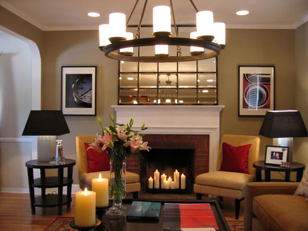 fireplace design idea 40 Cool Decorating Ideas For Living Rooms
