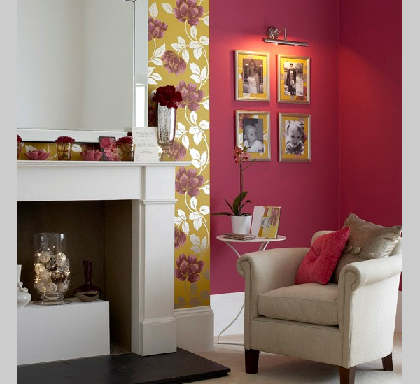 rose living room with fireplace 40 Cool Decorating Ideas For Living Rooms