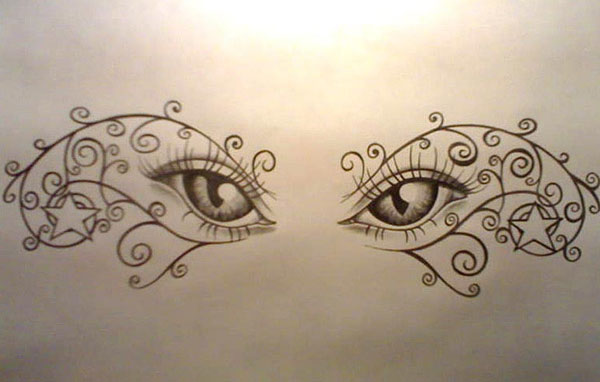 Eyes tattoo design