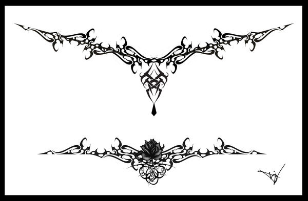 Gothic Lace Tattoo Splash 005