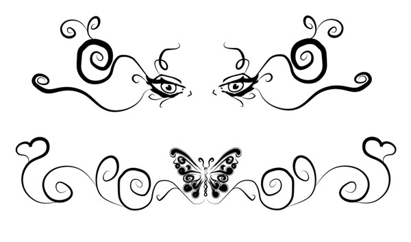 Lower Back Tattoo Flash