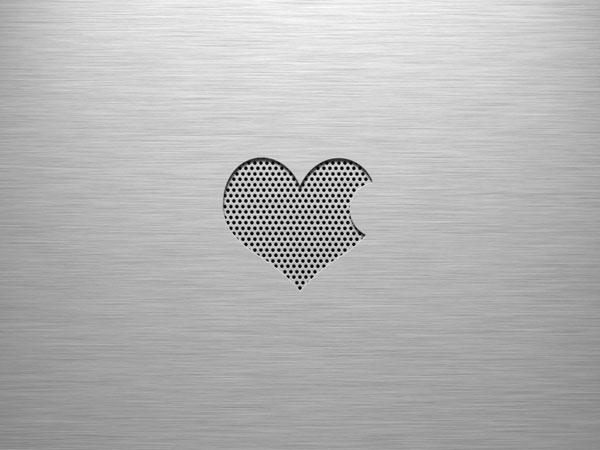 Brushed valentine