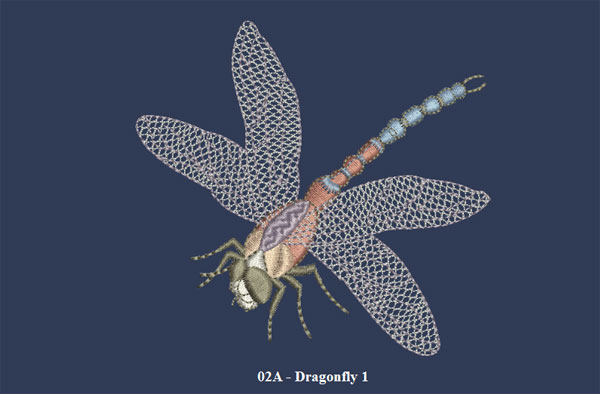 dragonfly 25 Free Machine Embroidery Designs