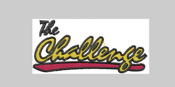 The Challenge Embroidery Design