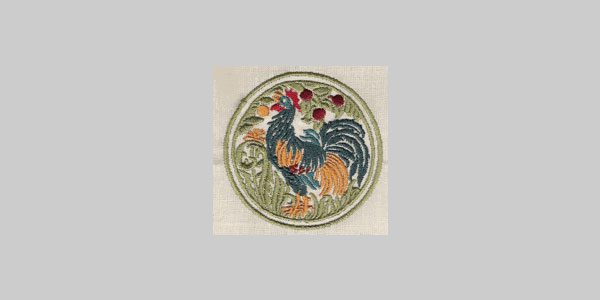 rooster design 25 Free Machine Embroidery Designs