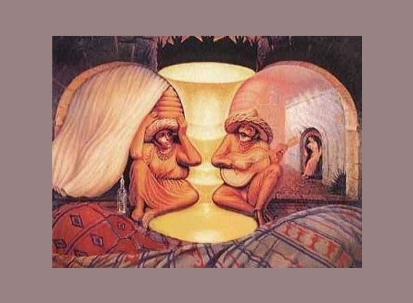 illusions optical illusion faces face elderly cool many op brilliant larger scene examples funny visual slodive dali elder salvador paintings