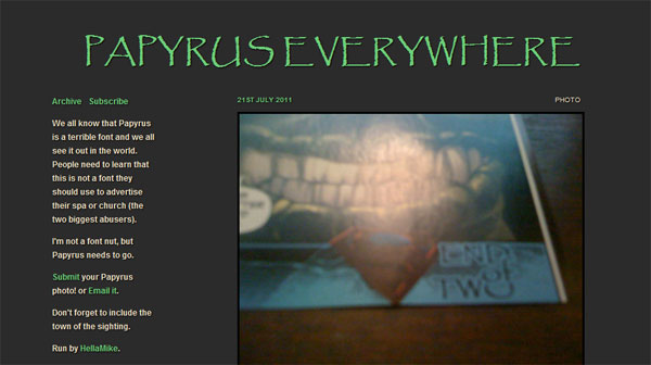 papyrus everywhere Papyrus Font Collection