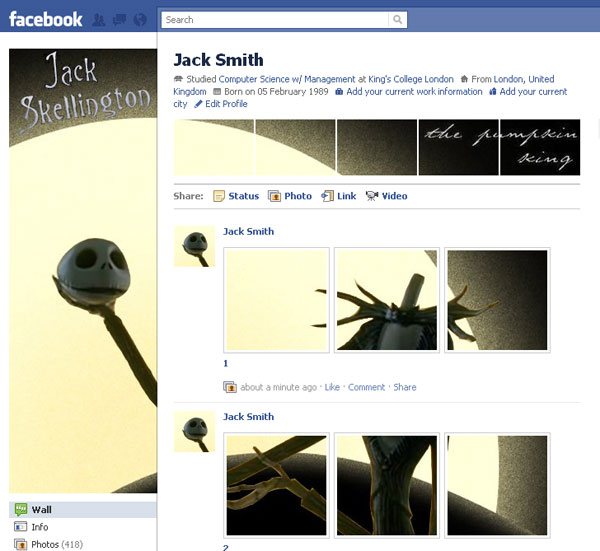 how to create facebook profile 20 Truly Awesome Profile Design Inspirations