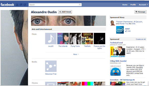 interesting facebook profile 20 Truly Awesome Profile Design Inspirations