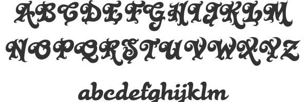 black rose script wedding font 50 Nice Script Fonts